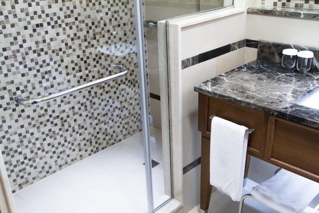 marble type shower tile